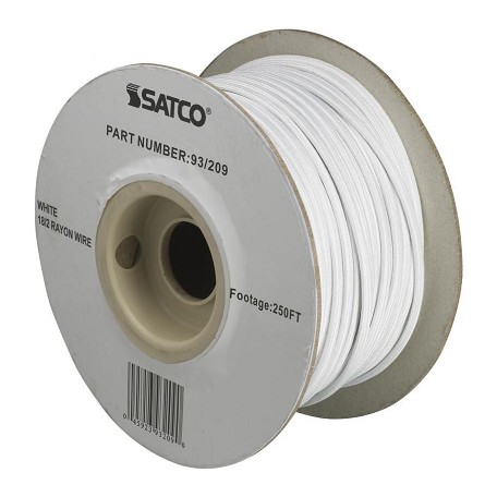 Satco Products Inc. #18/2 White Rayon 250In. Spool