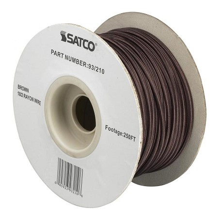 Satco Products Inc. #18/2 Brown Rayon 250In. Spool