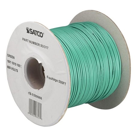 Satco Products Inc. Green 18/1 Ul 1015 500 Ft Spool