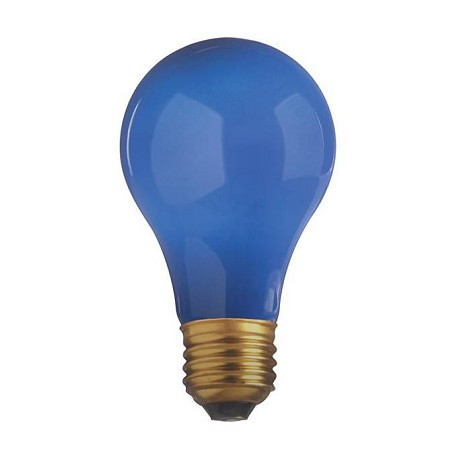 Satco Products Inc. 60 Watt; A19; Ceramic Blue; 2000 Average Rated Hours; Medium Base; 130