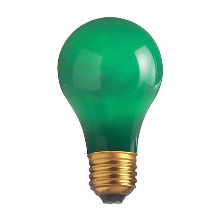 Satco Products Inc. 60 Watt; A19; Ceramic Green; 2000 Average Rated Hours; Medium Base; 13