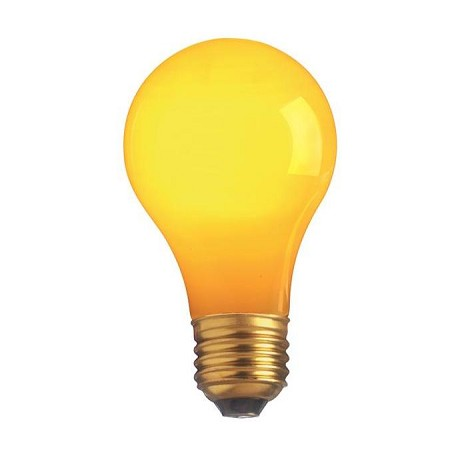 Satco Products Inc. 60 Watt; A19; Ceramic Yellow; 2000 Average Rated Hours; Medium Base; 1