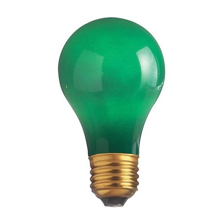 Satco Products Inc. 25 Watt; A19; Ceramic Green; 1000 Average Rated Hours; Medium Base; 13