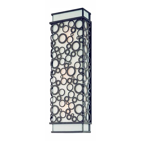 Troy Three Light French Iron Outdoor Wall Light