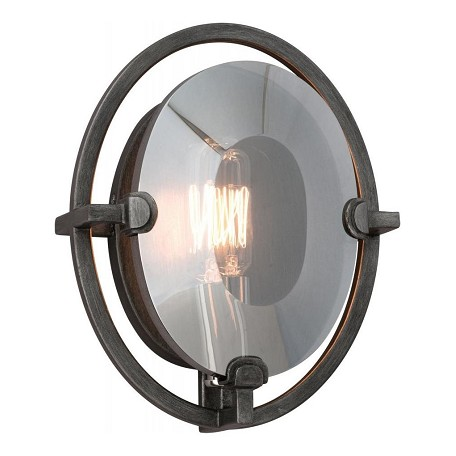 Troy One Light Graphite Wall Light