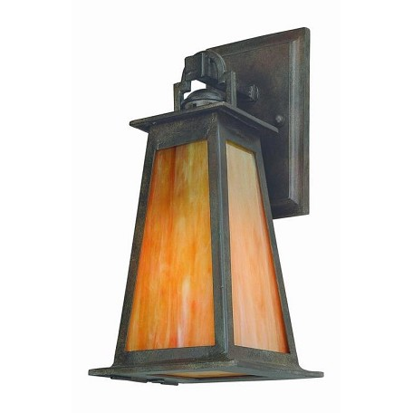 Troy One Light Statuary Bronze Wall Lantern