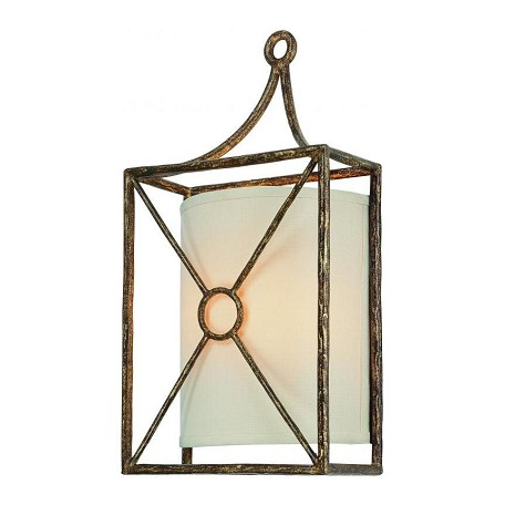 Troy Two Light Bronze Leaf Wall Light