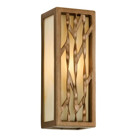 Troy One Light Painted Bronze Leaf Outdoor Wall Light