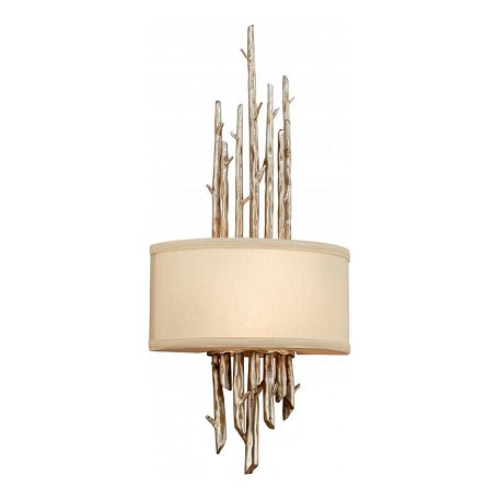 Troy One Light Silver Leaf Finish Wall Light