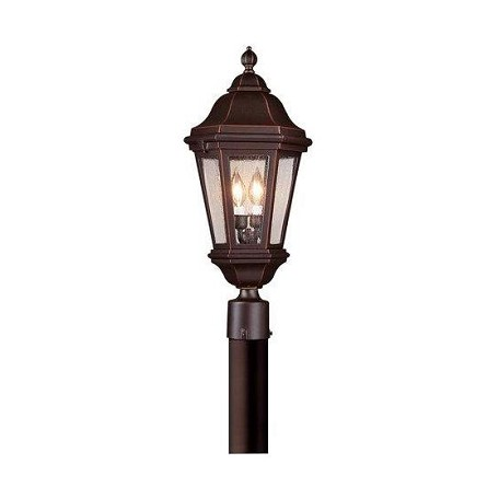 Troy Two Light Matte Black Post Light