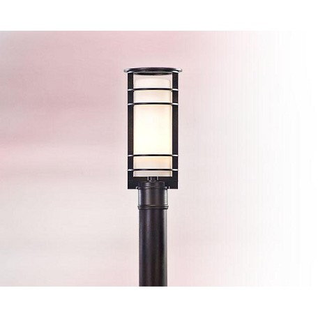 Troy One Light Brushed Aluminum Post Light