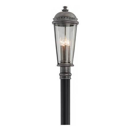 Troy Four Light Aged Pewter Post Light