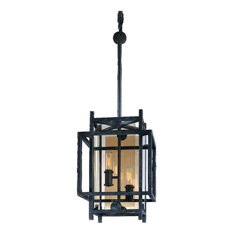Troy Two Light French Iron Open Frame Foyer Hall Fixture