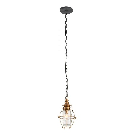 Troy One Light Aged Brass With Forg Hanging Lantern