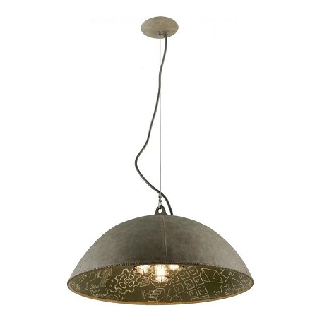 Troy Five Light Salvage Zinc With Ch Down Pendant