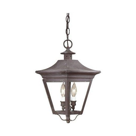 Troy Two Light Natural Rust Hanging Lantern