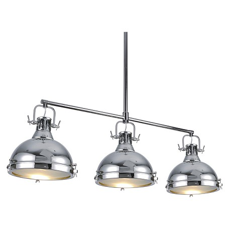 Bromi Essex 3 Light Island Pendant In Chrome