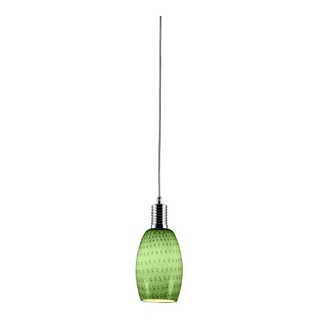 Bromi Prospect Green Glass Mini Pendant