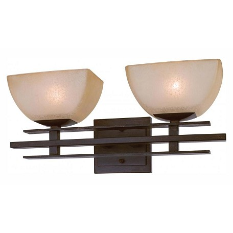 Minka Lavery Iron Oxide 2 Light Bathroom Vanity Light From The Linear Collection 6272 357 From