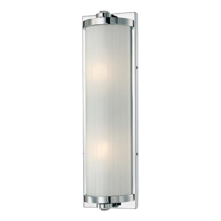 Minka-Lavery 2 Light Bath Wall Sconce With Chrome Finish Dark Brushed Bronze 6522-77 From ...