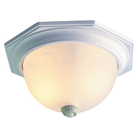 Acclaim Lighting Two Light Textured White Outdoor Flush Mount