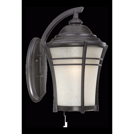 Acclaim Lighting Vero Collection Wall Lantern 1-Light Outdoor Black Coral Light Fixture