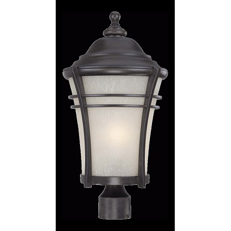 Acclaim Lighting Vero Collection Post Lantern 1-Light Outdoor Black Coral Light Fixture