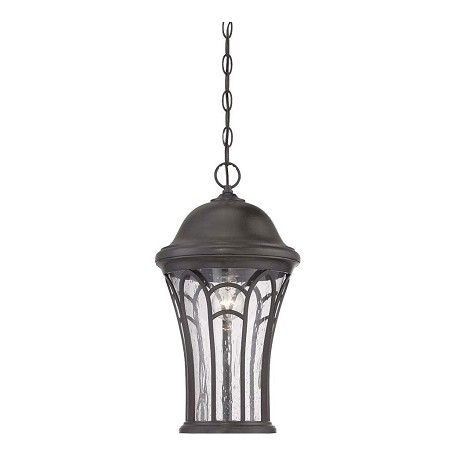 Acclaim Lighting Highgate Collection Hanging Lantern 3-Light Outdoor Black Coral Light Fixture