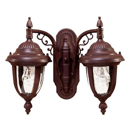Acclaim Lighting Two Light Burled Walnut Wall Lantern