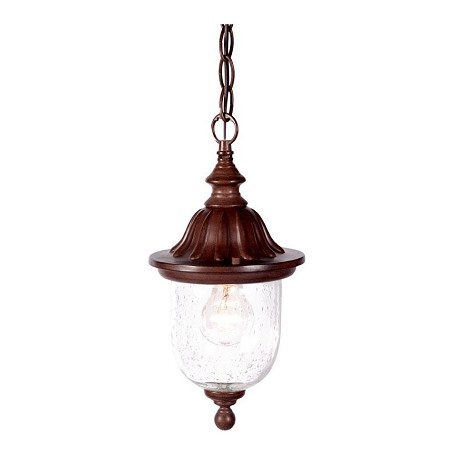 Acclaim Lighting One Light Burled Walnut Hanging Lantern