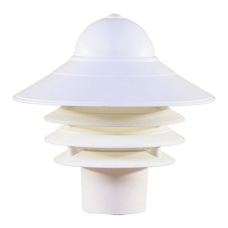 Acclaim Lighting One Light Textured White Post Light