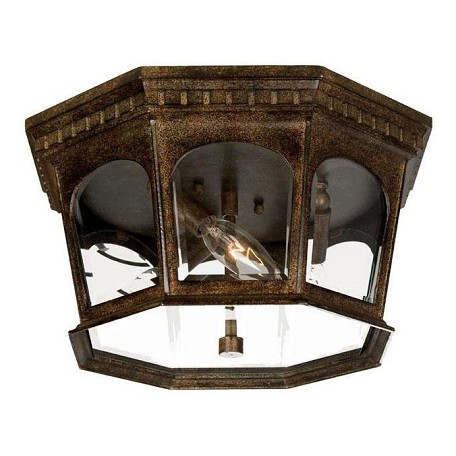 Acclaim Lighting Three Light Black Coral Outdoor Flush Mount