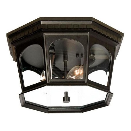 Acclaim Lighting Three Light Matte Black Outdoor Flush Mount
