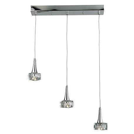 ELK Lighting Alea 3 Light Pendant In Polished Chrome
