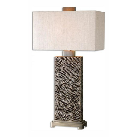 Uttermost Open Box Blackened Brown With Coffee Bronze Canfield 1 Light Table Lamp