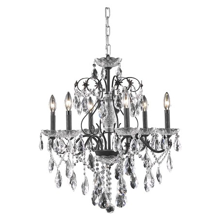 Elegant Lighting Dining Room Chandelier Dark Bronze Dark