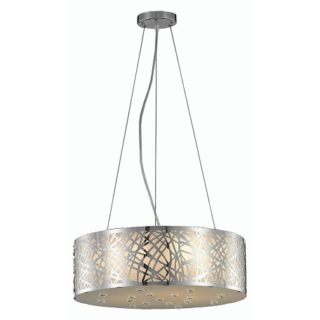 Elegant Lighting Dining Room Chandelier Chrome