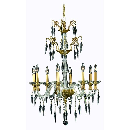 Elegant lighting dining room chandelier french gold french for Elegant chandeliers dining room