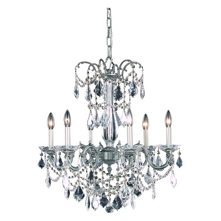 Elegant Lighting Dining Room Chandelier Pewter Pewter