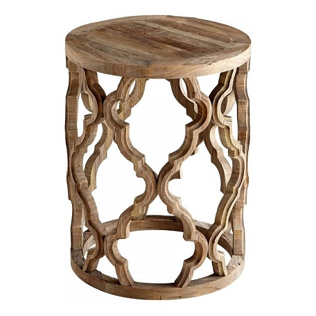 Cyan Designs Black Forest Grove Sirah 18 Inch Diameter Wood Side Table