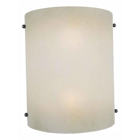 Forte Two Light Shaded Umber Glass Wall Light