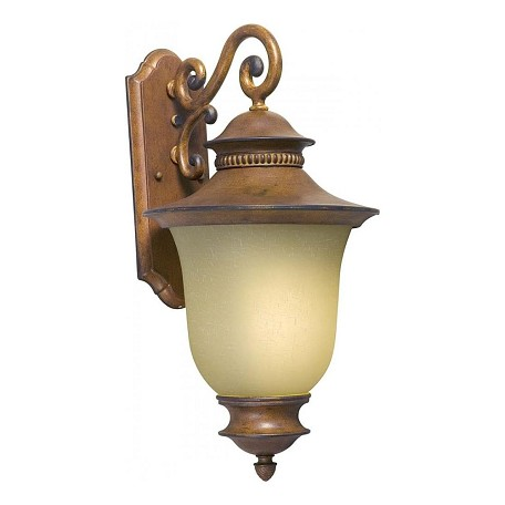 Forte One Light Rustic Sienna Umber Linen Glass Wall Lantern