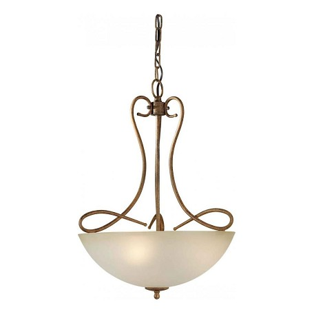 Forte Three Light Chestnut Shaded Umber Glass Up Pendant