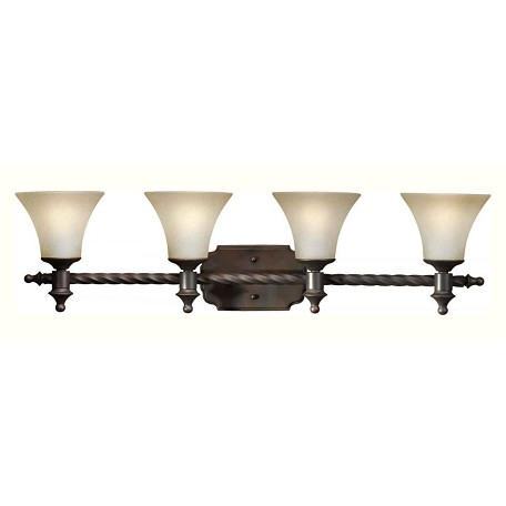 Bronze Vanity Lights With Clear Glass : Forte Four Light Antique Bronze Umber Mist Glass Vanity Antique Bronze 5221-04-32 From 478 ...