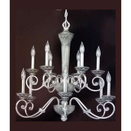 Forte Silver Up Chandelier