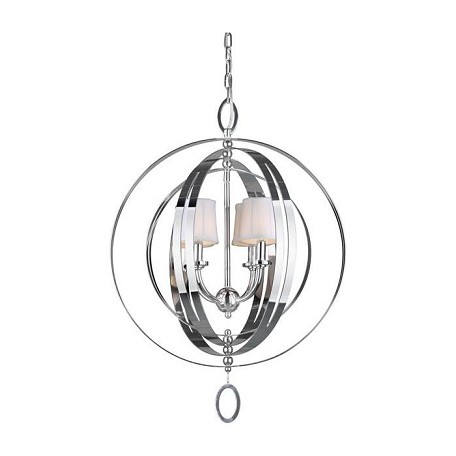 Forte Four Light Chrome Up Chandelier