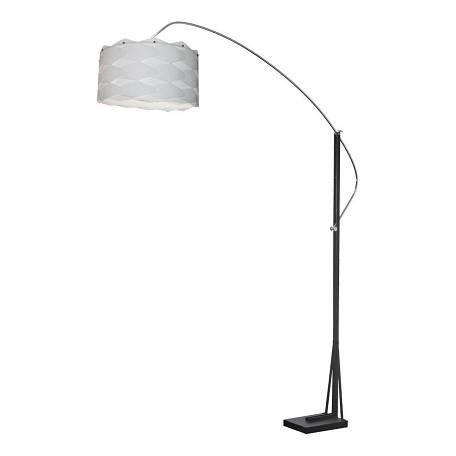 Dainolite arc floor lamp with white shade and black finish for Arc floor lamp with white shade