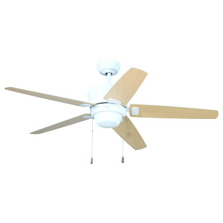craftmade white ceiling fan with blades light kit white ata52w5 from. Black Bedroom Furniture Sets. Home Design Ideas