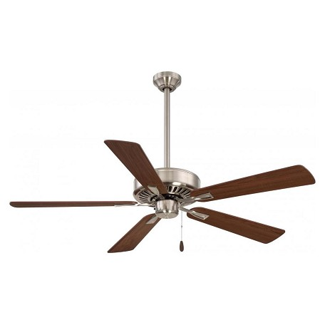 Minka Aire 52in Contractor Plus Ceiling Fan Brushed Nickel