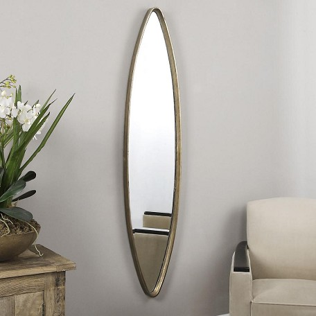 Uttermost Oxidized Gold Belsito Oval Mirror